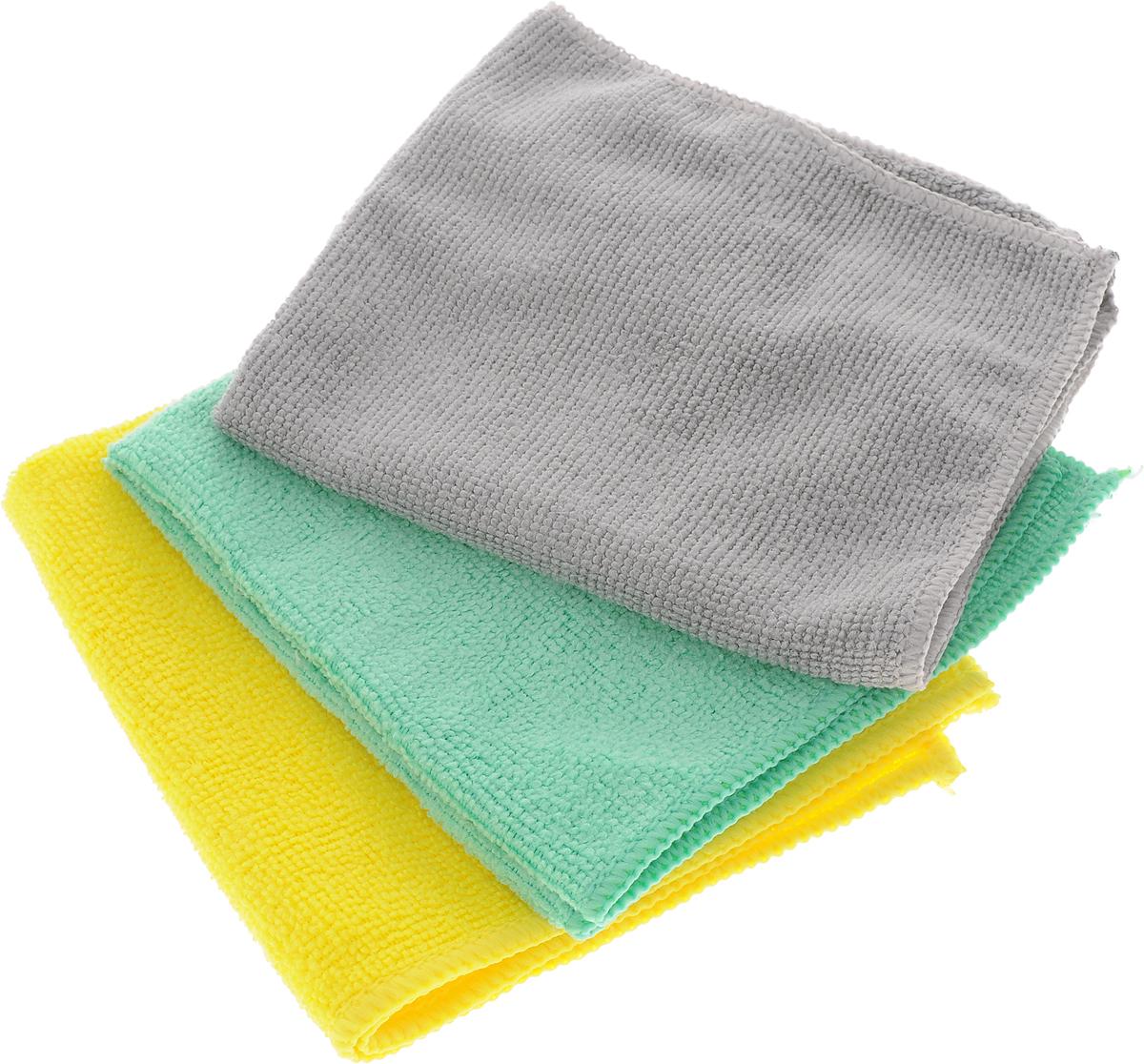 Набор универсальных салфеток Фэйт Вэриес, цвет: желтый, зеленый, серый, 30 х 30 см, 3 шт787502Набор Фэйт Вэриес состоит из 3 универсальных салфеток, выполненных из микрофибры. Такие салфетки не оставляют ворсинок, подходят для многократного использования, отлично впитывают влагу.Комплектация: 3 шт.Размер салфетки: 30 х 30 см.