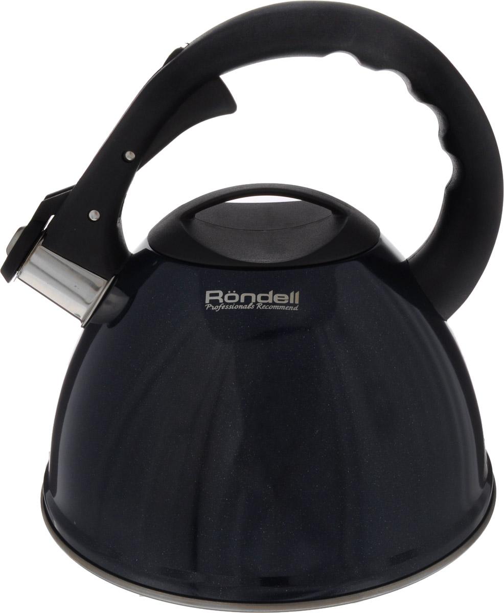 Чайник Rondell Royal Blue, со свистком, 3,2 лRDS-418Чайник Rondell Royal Blue изготовлен из высококачественной пищевой нержавеющей стали 18/10, благодаря чему не подвержен коррозии, устойчив к органическим кислотам, долговечен и прост в уходе. Глянцевое покрытие легко в уходе и обеспечивает безупречный внешний вид. Наличие свистка позволяет следить за кипением чайника. Эргономичная ручка из бакелита позволяет открывать свисток и наливать воду одной рукой.Стильный дизайн изделия украсит любую кухню.Чайник подходит для использования на всех видах плит, включая индукционные. Нельзя мыть в посудомоечной машине.Диаметр чайника по верхнему краю: 10 см. Высота чайника (без учета крышки и ручки): 13 см.Высота чайника (с учетом ручки): 23,5 см.