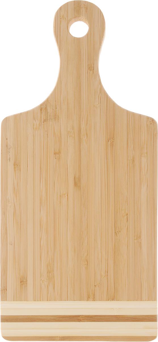 Доска разделочная LarangE От Шефа, 35 х 16 х 1,5 см54 009312Доска разделочная LarangE От Шефа изготовлена из высококачественного бамбука. Доска предназначена для нарезки продуктов, может служить как подставка для закусок (например, суши). Доска оснащена ручкой с отверстием, за которое доску можно подвесить на крючок. Такая доска станет отличным приобретением для вашей кухни.