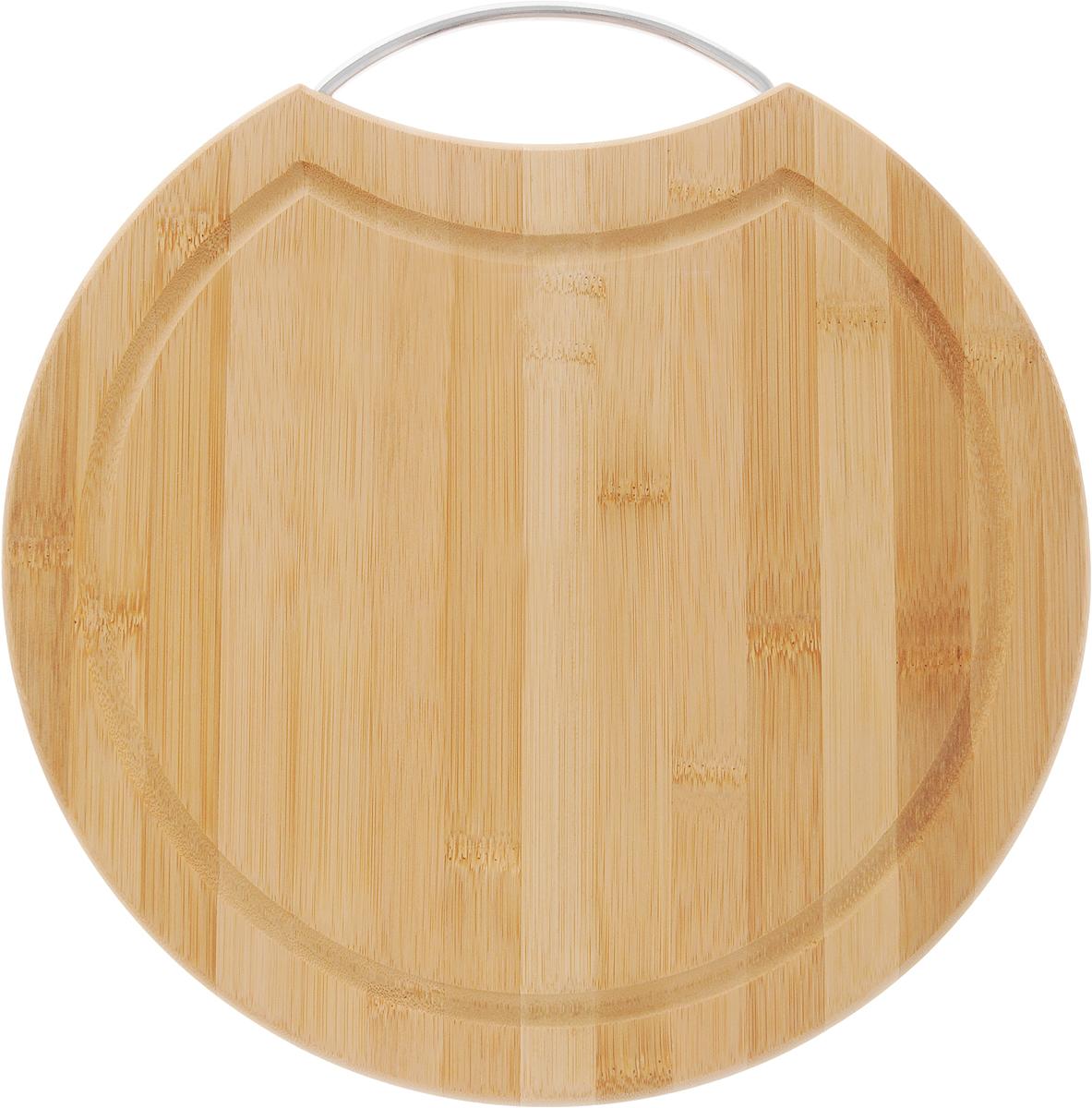 Доска разделочная LarangE От шефа, 31 х 31 х 1,5 смFS-91909Доска разделочная LarangE От Шефа изготовлена из высококачественного бамбука. Доска предназначена для нарезки продуктов, может служить как подставка для закусок (например, суши). Доска оснащена желобом для стока жидкости и металлической ручкой, за которое доску можно подвесить на крючок. Такая доска станет отличным приобретением для вашей кухни.