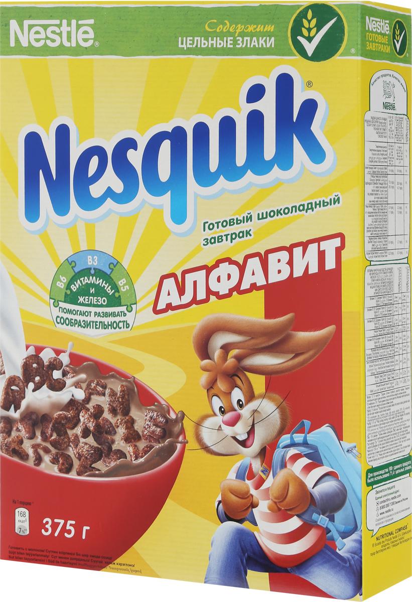 Nestle Nesquik Алфавит готовый завтрак, 375 г готовый завтрак nestle nesquik шарики с шоколадом