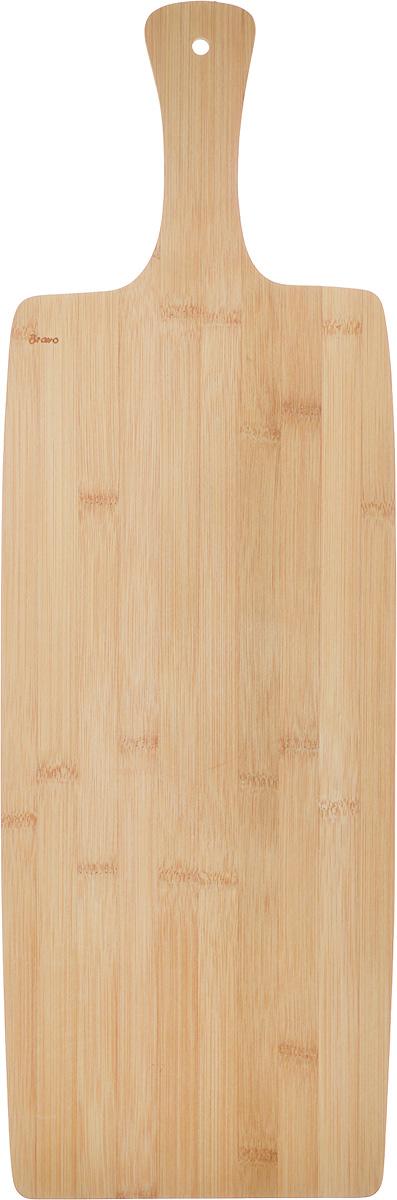 Доска разделочная LarangE От шефа, 60 х 20 х 1 см6.7706.L118Доска разделочная LarangE От шефа изготовлена из качественного бамбука.Бамбук обладает плотной и очень твердой структурой (400-700 кг/м3), устойчив к механическим и климатическим воздействиям. Доски из бамбука не рассыхаются и не трескаются, не портятся от мытья в теплой воде, не впитывают влагу и запахи и имеют долгий срок службы. Бамбук - это 100% экологически чистый продукт. Доска снабжена ручкой для удобного использования и отверстием для подвешивания на стену. Доска разделочная LarangE От шефа станет полезным приобретением для вашей кухни, а также красиво дополнит как современный, так и классический интерьер. Не рекомендуется мыть в посудомоечной машине.