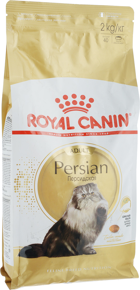 Корм сухой Royal Canin Persian Adult для взрослых персидских кошек, 2 кг12171996Корм сухой Royal Canin Persian Adult разработан специально для взрослых кошек персидской породы старше 12 месяцев.Длинная, густая шерсть с густым подшерстком является отличительной чертой персидских кошек. Эксклюзивный комплекс нутриентов укрепляет барьерные функции кожи и способствует поддержанию здоровой кожи и красивой шерсти. Формула обогащена жирными кислотами Омега-3 и Омега-6. Значительная длина и плотность шерсти персидских кошек приводит к заглатыванию большого количества шерсти. Особая смесь различных типов клетчатки (в том числе богатого камедями подорожника) помогает естественной стимуляции кишечного транзита, выводу проглоченной шерсти и предотвращает формирование волосяных комков. Высокоусвояемые белки способствуют здоровому пищеварению, а пребиотики помогают поддерживать баланс кишечной микрофлоры. Корм подходит стерилизованным кошкам. За счет сбалансированного содержания минералов корм поддерживает нормальную работу мочевыделительной системы. Корм выполнен в виде крокетов особой миндалевидной формы, специально разработанной для формы челюстей персидских кошек. Такая форма облегчает захват и стимулирует разгрызание. Предки персидских кошек были любимцами европейской аристократии, и до сих пор эта порода остается наиболее известной и почитаемой во всем мире! Персидскую кошку ценят не только за ее невероятную красоту, но и за благородный мягкий характер. Спокойствие и безмятежность - вот жизненное кредо этой утонченной аристократки. Товар сертифицирован.