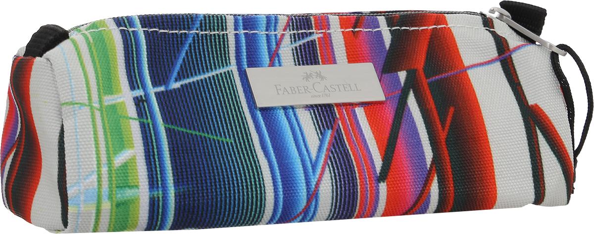 Faber-Castell Пенал цвет зеленый синий красный191810_полосатый, зеленый, синий, красныйШкольный пенал Faber-Castell выполнен из прочного материала и оформлен металлической вставкой с названием бренда.Пенал содержит одно отделение для канцелярских принадлежностей и закрывается на застежку-молнию. Пенал послужит отличным помощником во время занятий и позволит сохранить порядок на рабочем столе.
