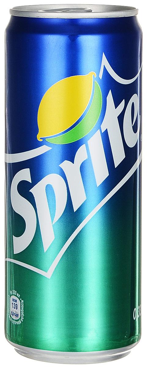 Sprite напиток сильногазированный, 0,33 л0120710Sprite - освежающий безалкогольный газированный напиток со вкусом лимона и лайма.Уважаемые клиенты! Обращаем ваше внимание на то, что упаковка может иметь несколько видов дизайна. Поставка осуществляется в зависимости от наличия на складе.Уважаемые клиенты! Обращаем ваше внимание, что полный перечень состава продукта представлен на дополнительном изображении.