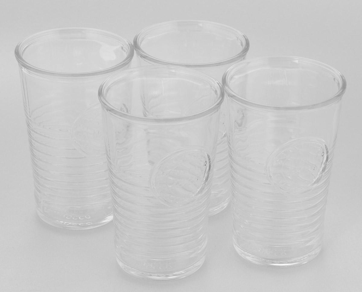 Набор стаканов Bormioli Rocco Officina 1825, 290 мл, 4 штVT-1520(SR)Набор Bormioli Rocco Officina 1825 состоит из 4 стаканов, выполненных из стекла. Стаканы оформлены оригинальным рельефом и по форме напоминают пластиковые стаканчики. Предназначены для холодных напитков: соков, воды, лимонада. Стаканы Bormioli Rocco Officina 1825 станут необычным дополнением интерьера кухни и украшением кухонного стола. Отличный подарок к любому празднику.Диаметр стакана (по верхнему краю): 8 см.Высота стакана: 12 см.