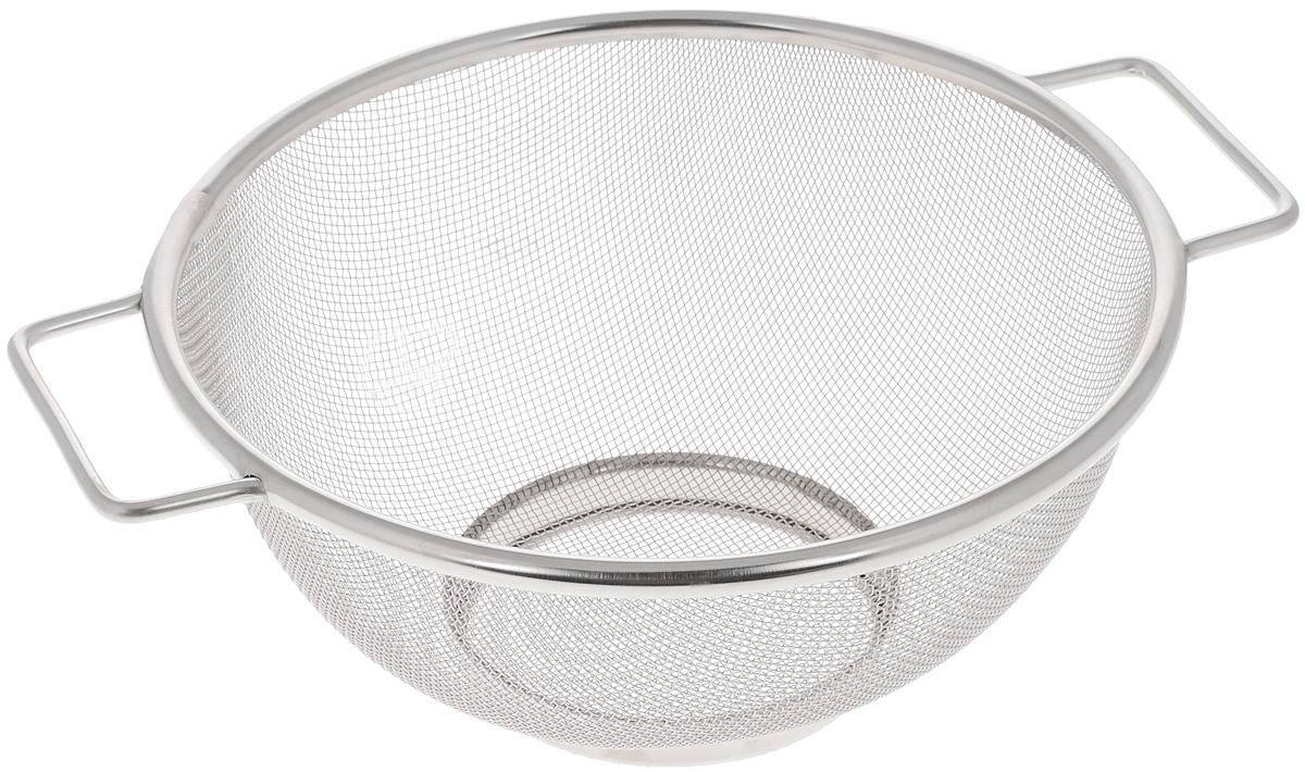 Сито Bekker, диаметр 26 см115510Сито Bekker, выполненное из нержавеющей стали, станет незаменимым аксессуаром на вашей кухне. Предназначено для просеивания муки, промывания круп, ягод и фруктов. Сито оснащено удобными ручками. Прочная стальная сетка и корпус обеспечивают изделию износостойкость и долговечность. Диаметр сита: 26 см.