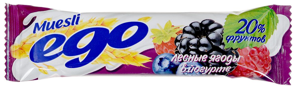 Ego Батончик мюсли со вкусом Лесные ягоды в йогурте, 25 г4607061252520Батончики мюсли Ego - это новое поколение диетических продуктов, концентрированный набор крупноволокнистой пищи, витаминов и микроэлементов. Они изготавливаются из пшеничных и овсяных хлопьев, экструдированной кукурузы и риса, различных фруктов, семян подсолнечника, орехов и мальтозного сиропа. Прекрасно подходят для диетического питания.Уважаемые клиенты! Обращаем ваше внимание, что полный перечень состава продукта представлен на дополнительном изображении.