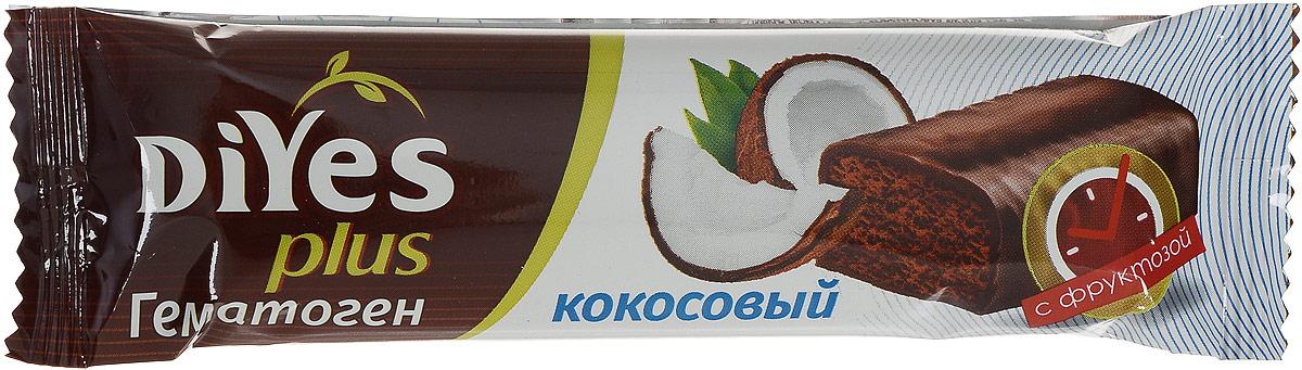 DiYes Plus Гематоген Кокосовый с фруктозой, 35 г4607061252315DiYes Plus производится на основе тщательно отобранных ингредиентов и содержит комплекс из 7 витаминов и минералов. В отличии от привычного гематогена, текстура DiYes Plus более мягкая и нежная, не имеет металлического послевкусия. Придется по вкусу ребенку и станет полезной альтернативой обычному шоколадному батончику.Уважаемые клиенты! Обращаем ваше внимание, что полный перечень состава продукта представлен на дополнительном изображении.