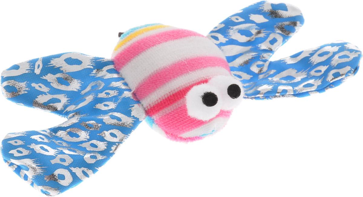 Игрушка для кошек V.I.Pet Пчелка, с мятой, цвет: голубой, розовый, белый, 13 х 9 х 2,5 см0120710Мягкая игрушка для кошек V.I.Pet Пчелка выполнена из текстиля. Играя с этой забавной игрушкой, маленькие котята развиваются физически, а взрослые кошки и коты поддерживают свой мышечный тонус. Изделие выполнено в виде пчелки. В наполнитель игрушки добавлена кошачья мята. Кошачья мята - растение, запах которого делает кошку более игривой и любопытной. С помощью этого средства кошка легче перенесет путешествие на автомобиле, посещение ветеринарного врача, переезд на новую квартиру.Размер игрушки: 13 х 9 х 2,5 см. Длина шнурка: 53 см.