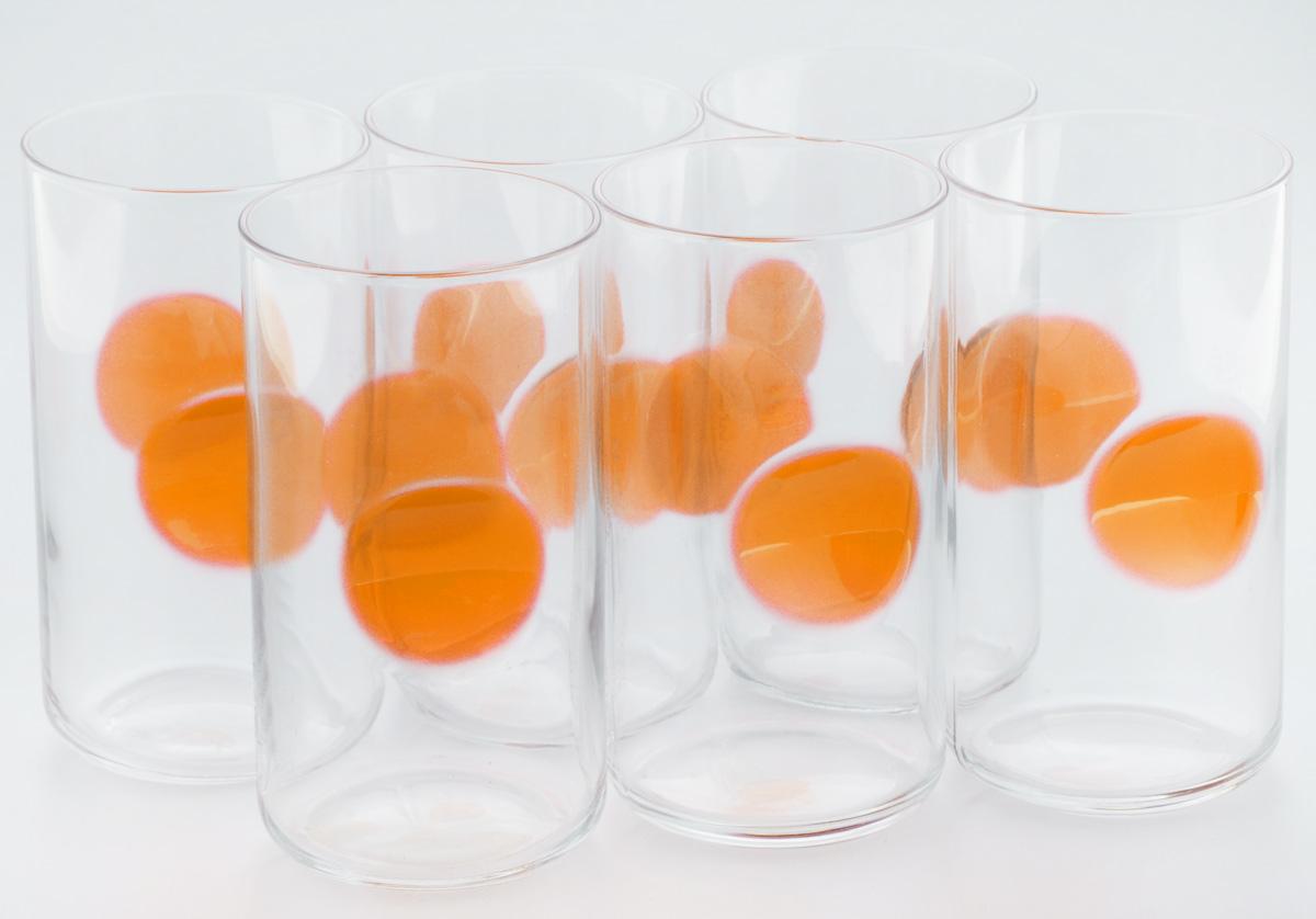 Набор стаканов Bormioli Rocco Джиове, цвет: оранжевый, 6 шт набор стаканов bormioli rocco luna 340 мл 3 шт