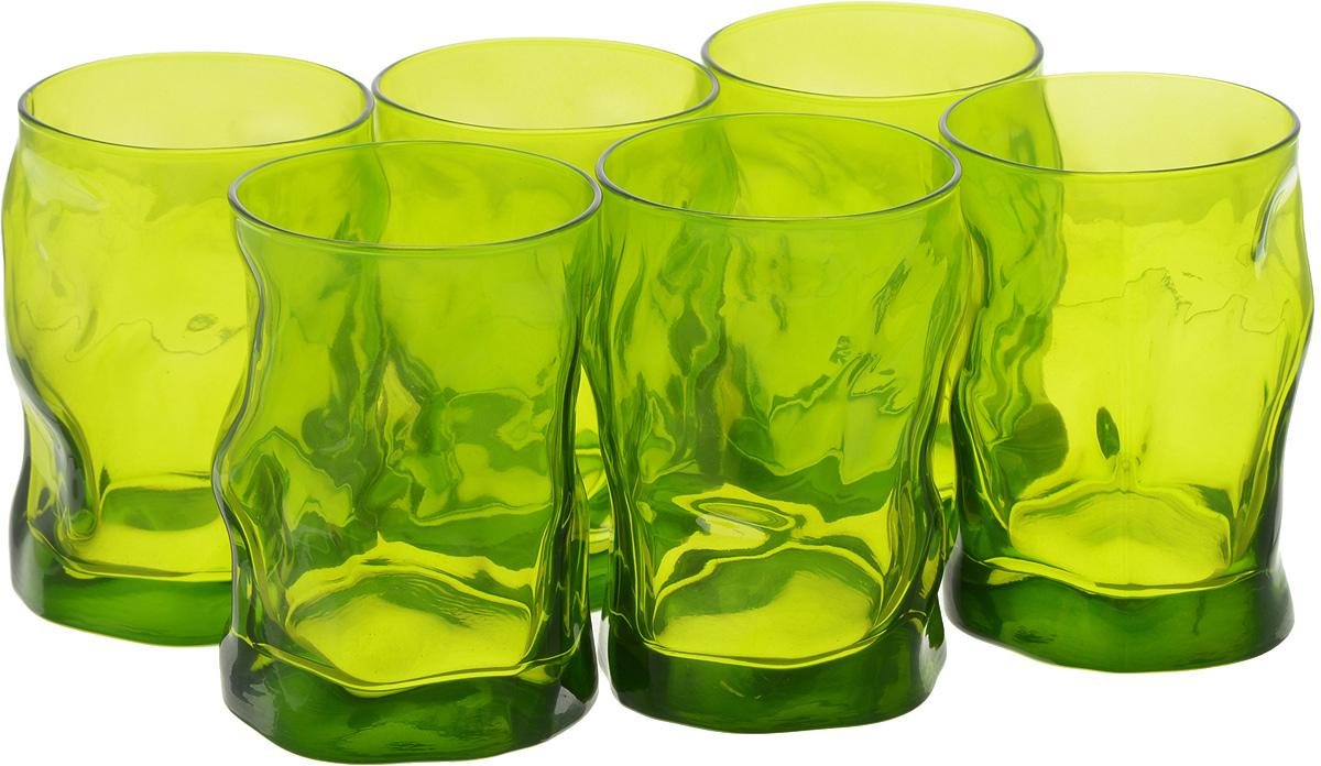 Набор стаканов Bormioli Rocco Сордженте Аква, цвет: зеленый, 6 шт набор стаканов bormioli rocco luna 340 мл 3 шт
