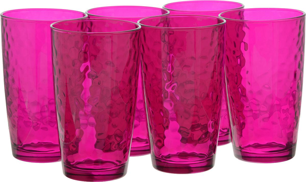 Набор стаканов Bormioli Rocco Палатина, цвет: розовый, 6 шт набор стаканов bormioli rocco luna 340 мл 3 шт