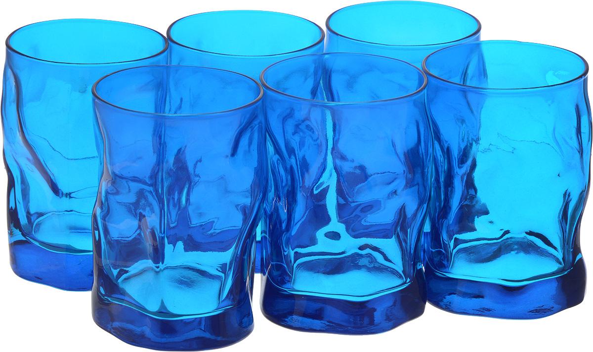 Набор стаканов Bormioli Rocco Сордженте Аква, цвет: голубой, 6 штVT-1520(SR)Набор Bormioli Rocco Сордженте Аква выполнен из стекла, состоит из 6 невысоких стаканов. Стаканы предназначены для холодных напитков. С внутренней стороны поверхность стаканов рельефная, что создает эффект игры и преломления. Стаканы Bormioli Rocco Сордженте Аква станут идеальным украшением праздничного стола и отличным подарком к любому празднику.Объем стакана: 300 мл.Диаметр стакана по верхнему краю: 7 см.Высота стакана: 10,5 см.