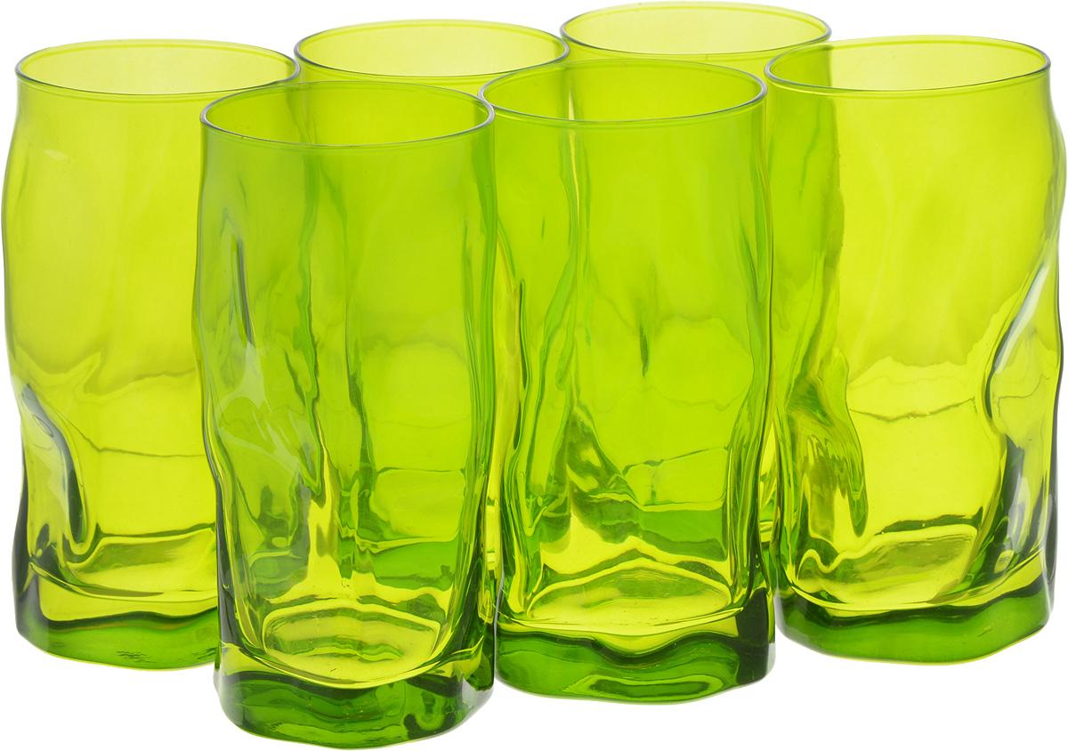 Набор стаканов Bormioli Rocco Сордженте, цвет: зеленый, 6 штVT-1520(SR)Набор Bormioli Rocco Сордженте, выполненный из стекла, состоит из 6 высоких стаканов и предназначен для подачи холодных напитков. С внутренней стороны поверхность стаканов рельефная, что создает эффект игры и преломления. Набор стаканов Bormioli Rocco Сордженте станет идеальным украшением праздничного стола и отличным подарком к любому празднику.Объем стакана: 455 мл.Диаметр стакана по верхнему краю: 7 см.Высота стакана: 15,5 см.