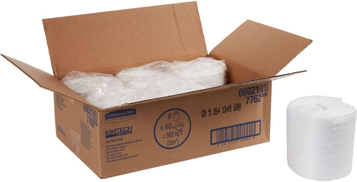 Полотенца бумажные Kimtech Wettask DS, 6 рулонов. 7762531-401Бумажные полотенца Kimtech Wettask DS - это идеальное решение для очистки и дезинфекции без распыления химикатов, инфекционный контроль в лечебных заведениях. Полотенца препятствуют образованию плесени и бактерий. Заправляемая, герметичная система очистки на основе предварительно пропитанных салфеток помогает снизить затраты на растворители и дезинфицирующие средства, повышает уровень безопасности за счет предотвращения разливов. Ведро-диспенсер приобретается отдельно.В наборе: 6 рулонов. Количество листов в рулоне: 90 шт.