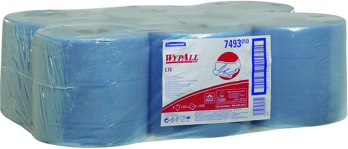 Полотенца бумажные Wypall L10 Extra, 6 рулонов. 7493SZ-14Бумажные полотенца Wypall L10 Extra отличаются особенной прочностью и быстротой впитывания жидкостей. Они идеально подойдут для универсальных задач: сбора грязи, работы с маслом, протирки и впитывания жидкостей в пищевой промышленности, а также в автомобильной индустрии и многих других областей.В набор входит: 6 рулонов.Количество листов в рулоне: 525 шт.