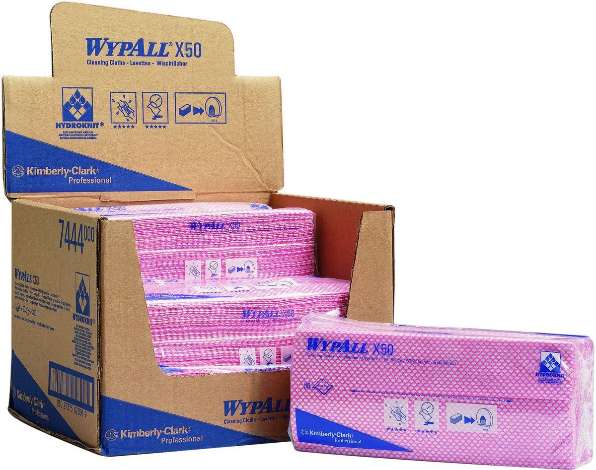 Салфетки для уборки Wypall Х50, цвет: розовый, белый, 50 штNN-604-LS-BUСалфетки Wypall Х50, выполненные из целлюлозы и синтетики, предназначены для многоразового использования, изготовленные по технологии HYDROKNIT®. Изделия обладают отличной впитывающей способностью, долговечностью и прочностью, как в сухом, так и во влажном состоянии. Салфетки Wypall Х50 - идеальное решение для гигиеничной уборки в туалетных комнатах, клинических помещениях и палатах пациентов, на кухнях и участках приготовления пищи. Салфетки допускают стирку и повторное использование, что уменьшает объем отходов и сокращает эксплуатационные затраты.Количество салфеток в 1 упаковке: 50 шт.