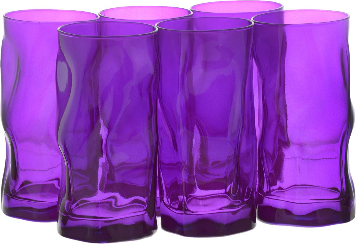Набор стаканов Bormioli Rocco Сордженте, цвет: фиолетовый, 6 шт набор стаканов bormioli rocco luna 340 мл 3 шт