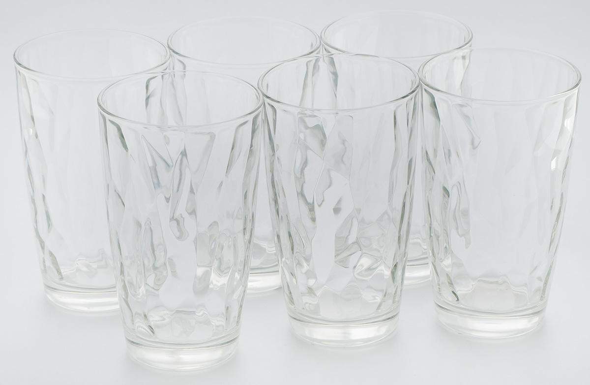 Набор стаканов Bormioli Rocco Даймонд, цвет: прозрачный, 6 шт набор стаканов bormioli rocco luna 340 мл 3 шт