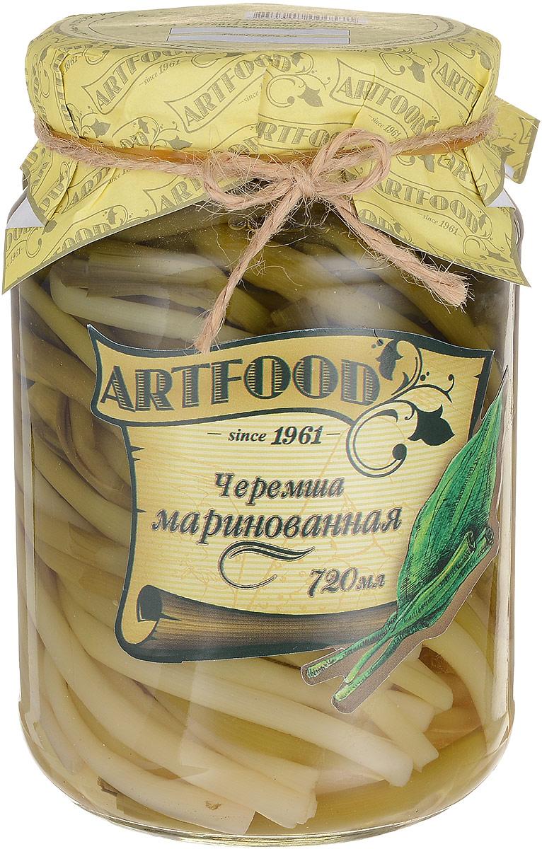 Artfood черемша маринованная, 720 мл0120710Черемша - низкокалорийный диетический продукт, который в сыром виде содержит всего 35 ккал. Черемша содержит много витамина С, эфирное масло и другие вещества, обладает фитонцидными свойствами. Имеет сильный запах чеснока, который частично удаляется, если перед употреблением черемшу обварить кипятком и залить уксусом. Обладает антицинготным общеукрепляющим свойством. Черемша полезна для работы сердца, она способна понижать кровяное давление и блокирует образование холестериновых бляшек. Чуремшу рекомендуют при авитаминозе, атеросклерозе и гипертонической болезни. Древние греки считали, что это растение обладает свойством поддерживать мужество.Уважаемые клиенты! Обращаем ваше внимание, что полный перечень состава продукта представлен на дополнительном изображении.