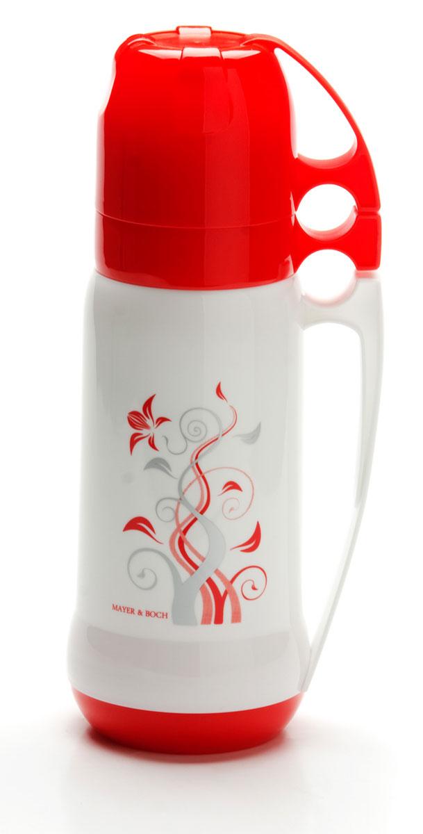 Термос Mayer & Boch, с 2 чашами, 1 л. 26101P737790Термос Mayer & Boch с цветным пластиковым корпусом и стеклянной внутренней колбой, является самым востребованным. По своим теплообменным характеристикам термос со стеклянной колбой не уступает термосам со стальными колбами, но благодаря свойствам стекла, в него можно наливать напитки с сильными, устойчивыми ароматами. Термос оснащен большой удобной ручкой и 2-мя пластиковыми кружками. Завинчивающаяся герметичная крышка предохраняет от проливаний. Термос способен сохранять необходимую температуру до 24-х часов. Легко и просто моется.Термос Mayer & Boch пригодится в походе, поездке, на рыбалке.Диаметр горлышка: 5,5 см. Высота термоса: 34 см. Объем: 1 л.