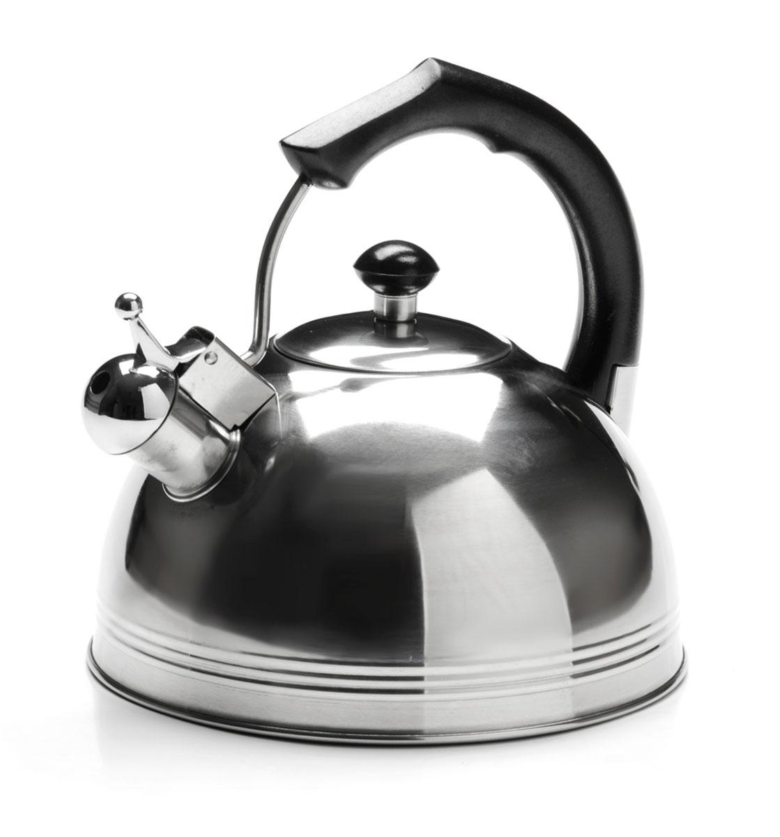 Чайник Mayer & Boch, со свистком, 3,5 л. 26165Турка 400гр-медь (х60)_серебристый, коричневыйЧайник Mayer & Boch изготовлен из высококачественной нержавеющей стали. Изделия из нержавеющей стали не окисляются и не впитывают запахи, благодаря чему вы всегда получите натуральный, насыщенный вкус и аромат напитков. Капсулированное дно с прослойкой из алюминия обеспечивает наилучшее распределение тепла. Эргономичная фиксированная ручка выполнена из нержавеющей стали и бакелита и стилизована под дерево. Носик чайника оснащен насадкой-свистком, который позволяет контролировать процесс кипячения или подогрева воды. Поверхность чайника гладкая, что облегчает уход за ним. Эстетичный и функциональный, с современным дизайном, чайник будет оригинально смотреться на любой кухне. Подходит для использования на всех типах плит, кроме индукционных. Подходит для мытья в посудомоечной машине.
