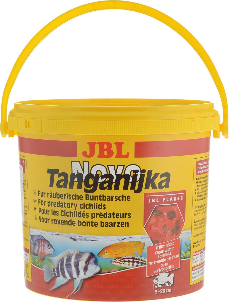 Корм JBL NovoTanganjika для хищных цихлид из озер Малави и Танганьика, в форме хлопьев, 5,5 л (950 г)0120710JBL NovoTanganjika - профессиональный корм для хищных цихлид из озер Малави и Таньгаика. Состав корма ориентирован на специфические питательные потребности данного вида рыб. Здоровый рост обеспечен использованием в корме высокоценного белка из рыбы, мелких креветок и других водяных животных, а также легко усваиваемого жира как носителя энергии. Ценные каротиноиды, жизненно важные витамины и природные вещества способствуют образованию естественной красивой окраски рыб и укрепляют иммунитет, чеснок также способствует укреплению здоровья.Рекомендации по кормлению:Два или три раза в день в том количестве, которое может быть съедено рыбами в течение нескольких минут. Мальков кормить чаще.Товар сертифицирован.