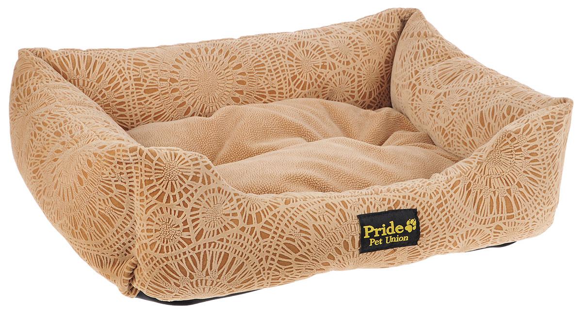 Лежак для животных Pride Фортуна, цвет: песочный, 60 х 50 х 18 см0120710Лежак Pride Фортуна прекрасно подойдет для отдыха вашего домашнего питомца. Предназначен для собак средних пород и кошек. Изделие выполнено из прочных материалов высшего качества. Лежак оснащен съемным матрасиком. Комфортный и уютный лежак обязательно понравится вашему питомцу, животное сможет там отдохнуть и выспаться.