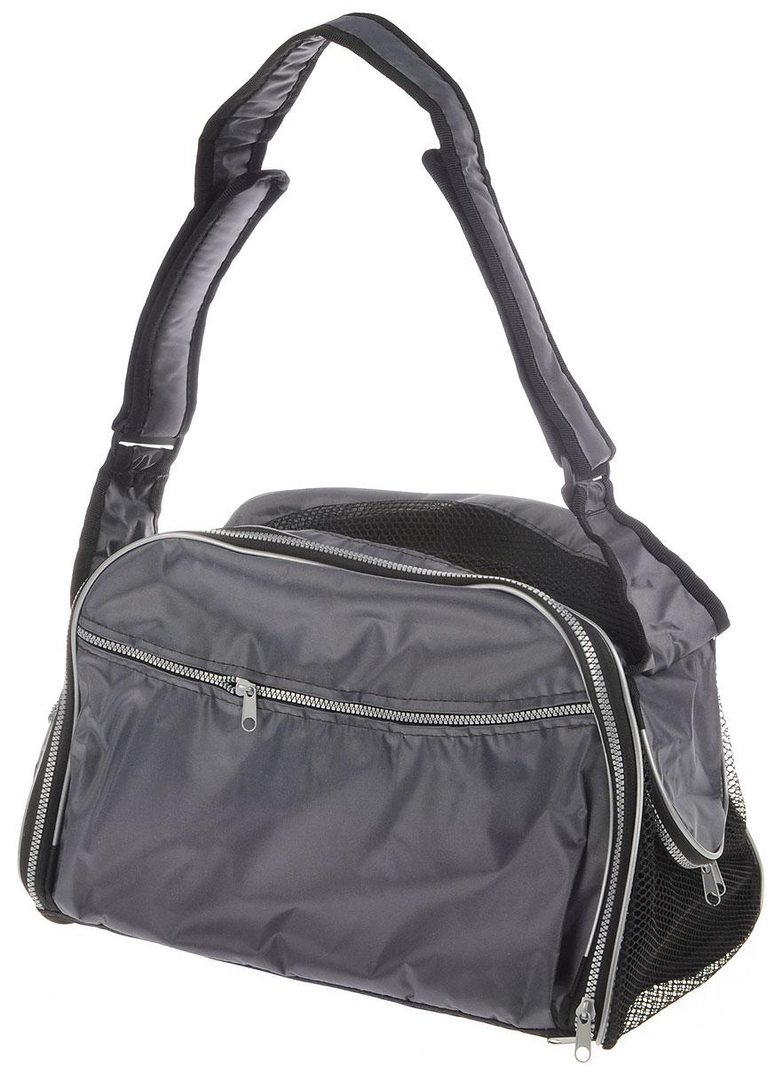 Сумка-переноска для животных Elite Valley, с отверстием для головы, цвет: серый, 45 х 28 х 30 смС-49_серыйТекстильная сумка Elite Valley предназначена для собак мелких пород и кошек. Изделие закрывается на застежку-молнию. Для удобной переноски предусмотрена удобная ручка. С внешней стороны имеется два кармана на молнии. Также сумка оснащена отверстием для головы животного, закрывающего на молнию.Сумка-переноска Elite Valley обязательно понравится вашему домашнему любимцу.