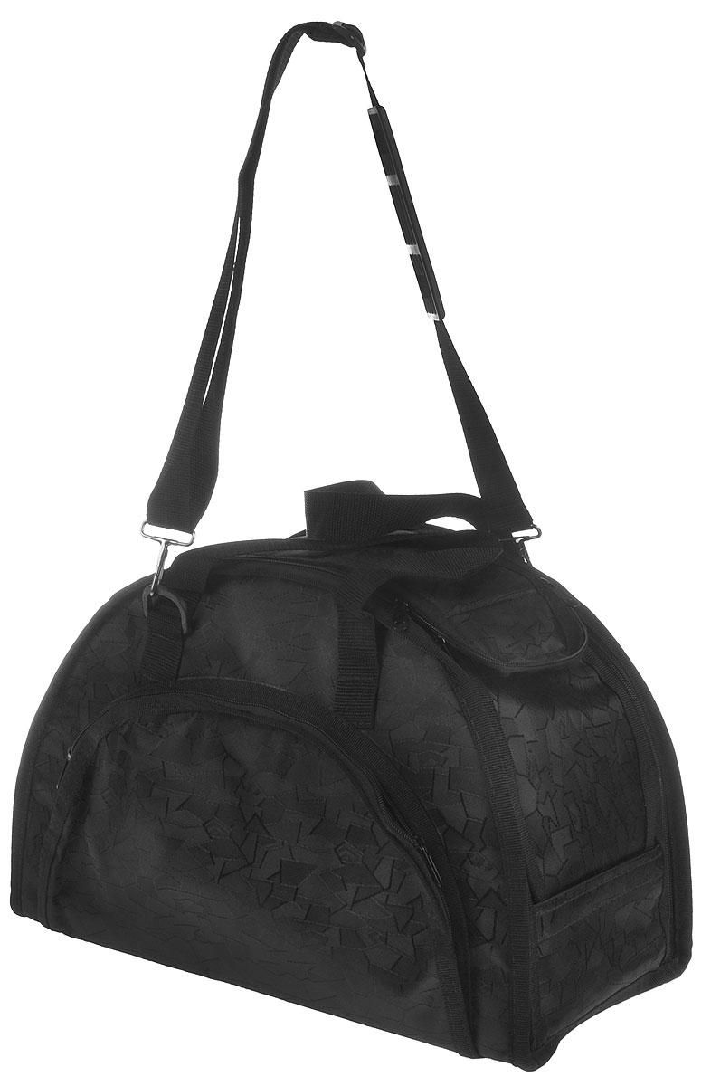 Сумка-переноска для животных Elite Valley, модельная, складная, цвет: черный, 42 х 21 х 28 см сумка переноска каскад collection с белыми буквами цвет черный 38х17 см