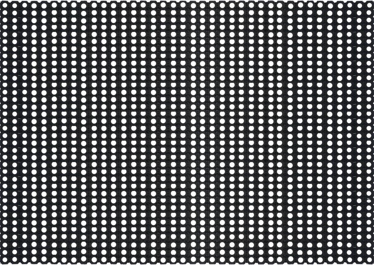 Коврик напольный Sindbad, цвет: черный, 100 х 150 смES-412Напольный ячеистый коврик Sindbad изготовлен из резины высокого качества, поэтому его можно использовать вне помещений при температуре до -35°С. Благодаря своей универсальности может применяться как дома, так и в других различных учреждениях. Коврик имеет сквозные отверстия - ячейки особой формы, что позволяет надежно собирать снег и грязь с обуви и защищать от скольжения.