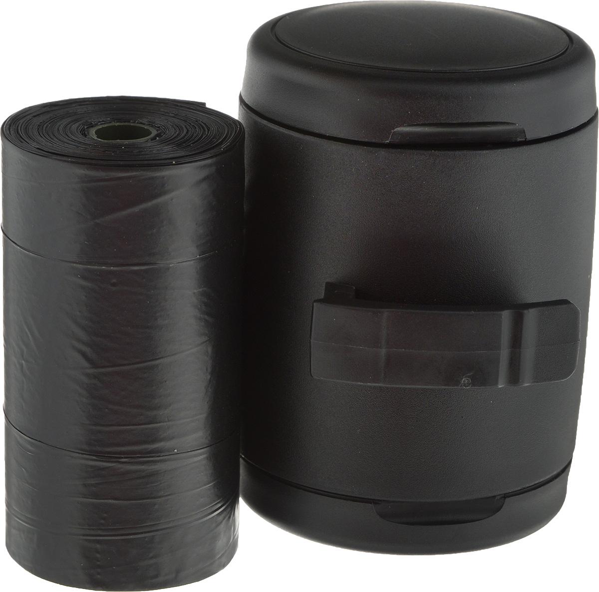 Мультибокс Triol Flexi, для лакомств или гигиенических пакетов, цвет: черный, 7,3 х 5,1 х 5,9 см0120710Мультибокс Triol Flexi– незаменимый аксессуар для владельцев четвероногих питомцев, который идеально подойдет для оригинальных поводков-рулеток коллекции Fun. В данных моделях этот компактный контейнер для лакомств или гигиенических пакетов удобно фиксируется прямо под ручкой рулетки, не доставляя дискомфорта во время прогулки. Мультибокс можно использовать для переноски пакетиков для уборки за собакой или для того, чтобы взять с собой в дорогу вкусняшки для поощрения собаки.Одноразовые пакеты для уборки за собакой входят в комплект.Размер мультибокса: 7,3 х 5,1 х 5,9 см.