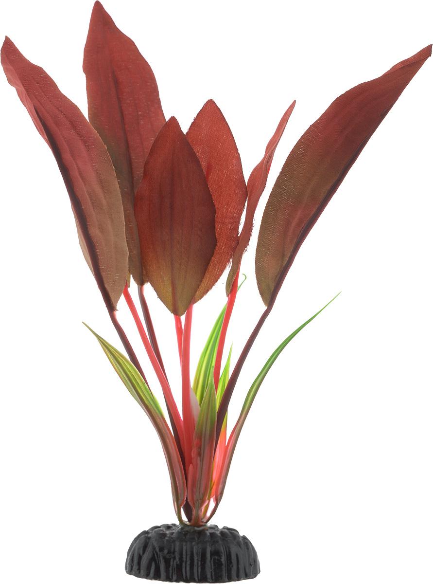 Растение для аквариума Barbus Криптокорина красная, шелковое, высота 20 см0120710Растение для аквариума Barbus Криптокорина красная, выполненное из качественного шелка, станет оригинальным украшением вашего аквариума. В воде создается абсолютная имитация живого растения. Можно использовать в любой воде: пресной или морской. Изделие полностью безопасно для обитателей аквариума, не токсично, нейтрально к водному балансу, устойчиво к истиранию краски. Растение Barbus поможет вам смоделировать потрясающий пейзаж на дне вашего аквариума или террариума. Высота растения: 20 см.