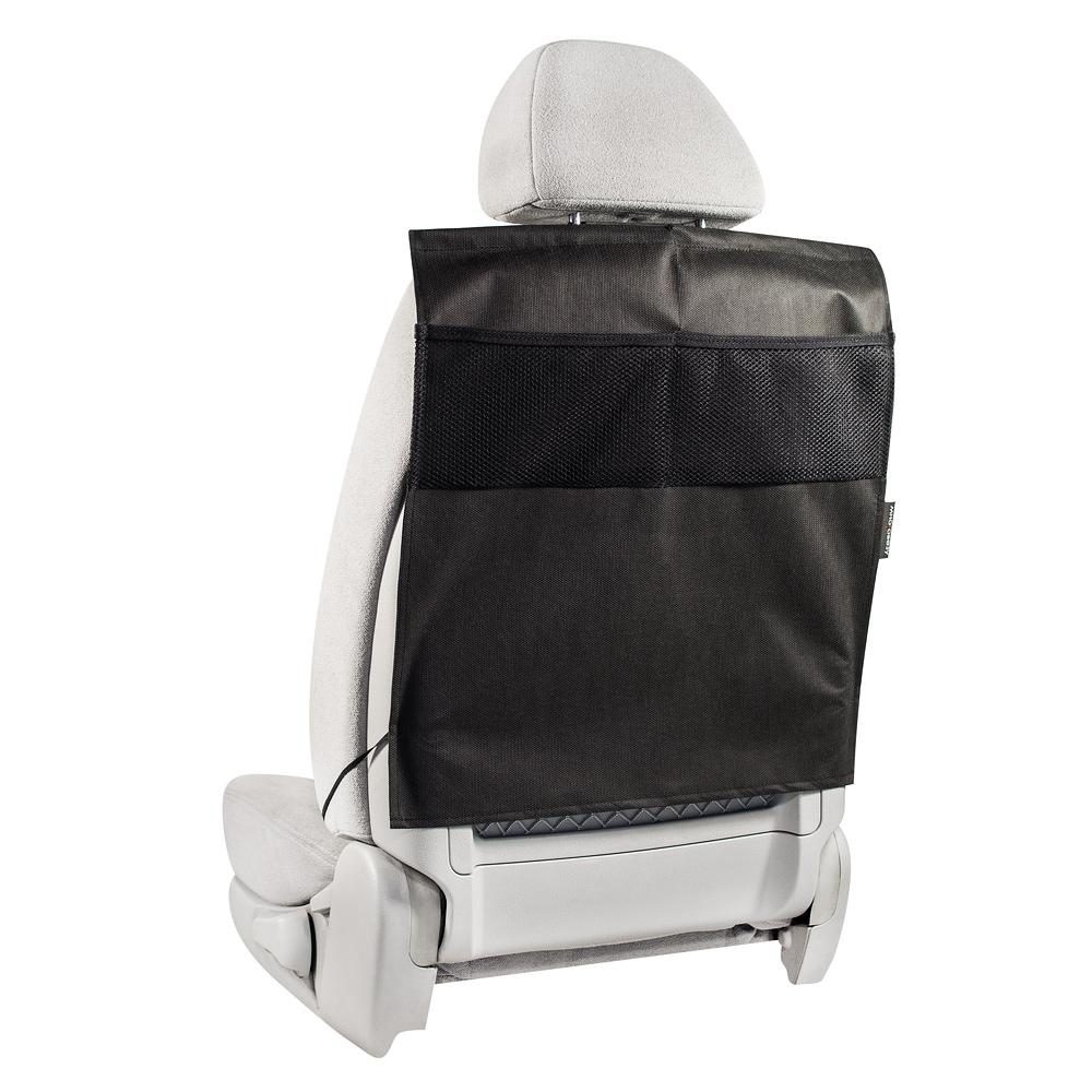 Накидка защитная на спинку переднего сиденья Много Везу, с карманами, 55 х 50 смВетерок 2ГФЗащитная накидка Много Везу на спинку переднего сиденья автомобиля защищает обивку от грязных детских ножек, пыли и грязи, царапин, повреждений и потертостей.Жесткий верхний каркас позволяет всегда держать форму накидки, а увеличенный размер подойдет на сиденье любого автомобиля.Особенности:- Жесткий верхний каркас- Универсальный размер- Удобные карманы- Полностью закрывает спинку сиденьяРазмер (ВхШ): 55х 50 см.Материал: спанбонд (плотность 100 г/м2), прочная сетка.