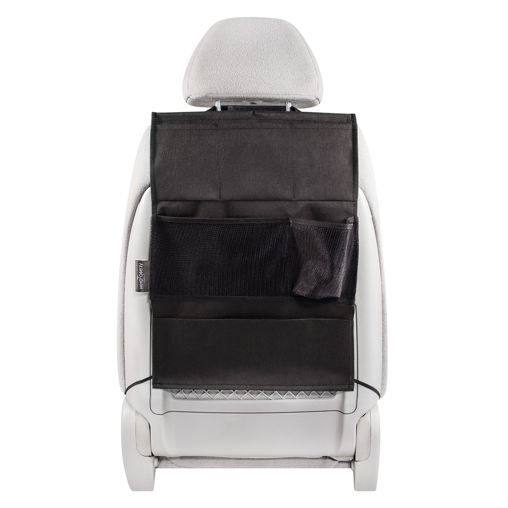 Органайзер Много Везу, на спинку сиденья, 52 х 37 см. М 111М 111- Жесткий верхний каркас- Универсальный размер- 6 кармановУдобный и вместительный органайзер помогает компактно разместить множество различных вещей в салоне автомобиля. Жесткий верхний каркас позволяет всегда держать форму органайзера, а универсальный размер подойдет на сиденье любого автомобиля.Размеры: ширина —37 см, высота — 52 см Материал: спанбонд (плотность 100 гр/м2), прочная сеткаЦвет: черный