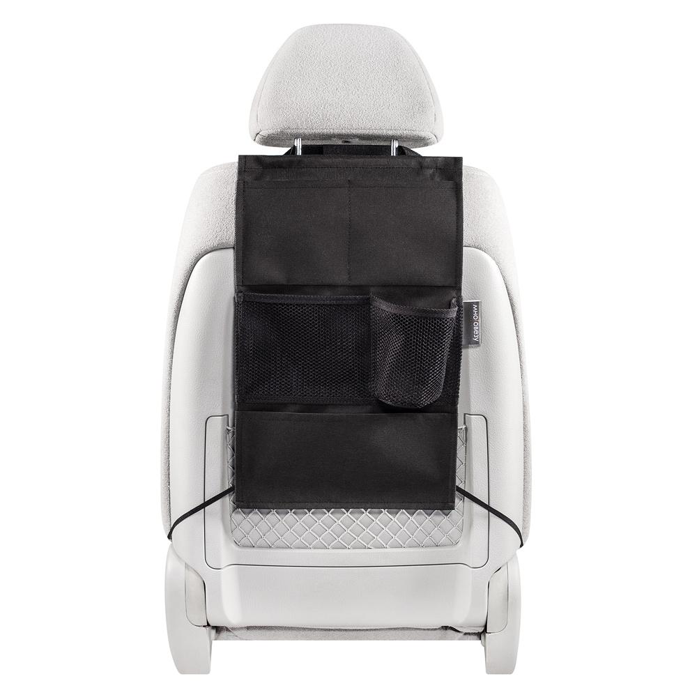 Органайзер Много Везу, на спинку сиденья , 49 х 30 см. М 113М 113- Жесткий верхний каркас- Универсальный размер- 5 кармановУдобный и вместительный органайзер помогает компактно разместить множество различных вещей в салоне автомобиля. Жесткий верхний каркас позволяет всегда держать форму органайзера, а универсальный размер подойдет на сиденье любого автомобиля.Размеры: ширина —30 см, высота — 49 см Материал: спанбонд (плотность 100 гр/м2), прочная сеткаЦвет: черный