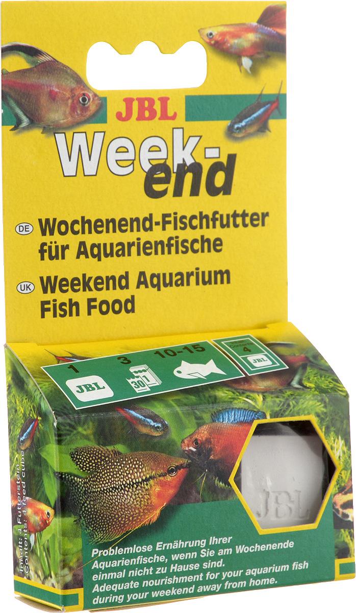 Корм JBL Weekend для рыб, брикет, 4 шт0120710Корм JBL Weekend предназначен для решения проблемы кормления аквариумных рыб во время вашего отсутствия в доме. корм содержит все компоненты, важные для для здорового питания рыб. Одного брикета хватает на 4 дня.Состав: зерновые, рыба и рыбные продукты, растительные продукты, дрожжи, водоросли, животные продукты.Товар сертифицирован.