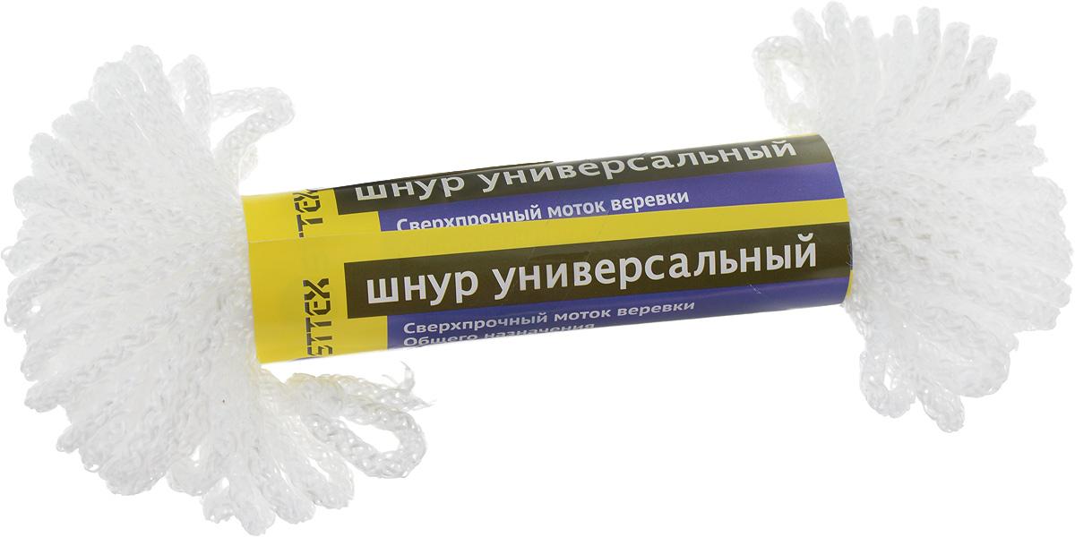 Шнур универсальный Osttex, без сердечника, диаметр 3 мм, длина 20 м173Шнур универсальный Osttex - это сверхпрочная вязаная веревка общего назначения, которая отличается износостойкостью, водонепроницаемостью и устойчивостью к химикатам. Шнур изготовлен из полипропиленовой мультифиламентной нити без внутреннего наполнителя, поэтому выдерживает меньший вес по сравнению с другими шнурами. Диаметр: 3 мм. Длина: 20 м. Разрывная нагрузка: 35 кг.
