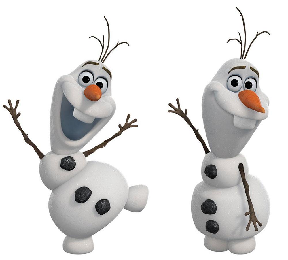 RoomMates Наклейка интерьерная Снеговик Олаф 25 шт -  Детская комната