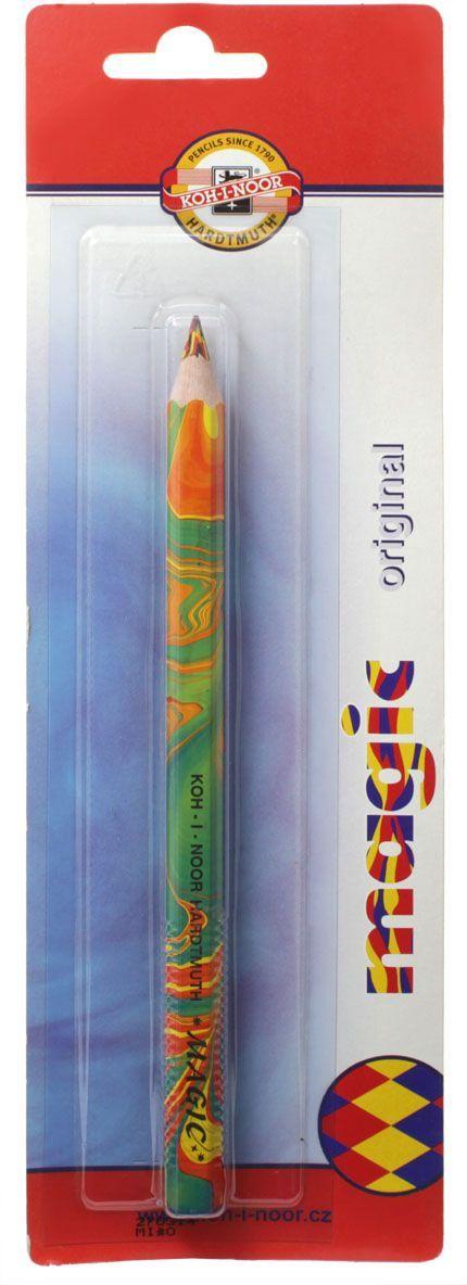 Карандаш цветной Koh-i-Noor Magic, многоцветный грифель, 10 мм730396Уникальный карандаш с многоцветным грифелем. При работе карандашом образуется единая многоцветная линия, сплетенная из нескольких линий разных цветов без вращения карандаша вокруг оси грифеля, создавая готовую растушеванную линию. Цвет линии меняется при изменении угла наклона карандаша. Карандаш можно использовать в различных техниках рисования: растушевке, заштриховке. При переходе от оттенка к оттенку создается эффект 3D. Благодаря уникальности карандаша даже начинающий художник может достичь профессионального результата. Карандаши легко затачиваются. Грифель устойчив к механическим повреждениям.