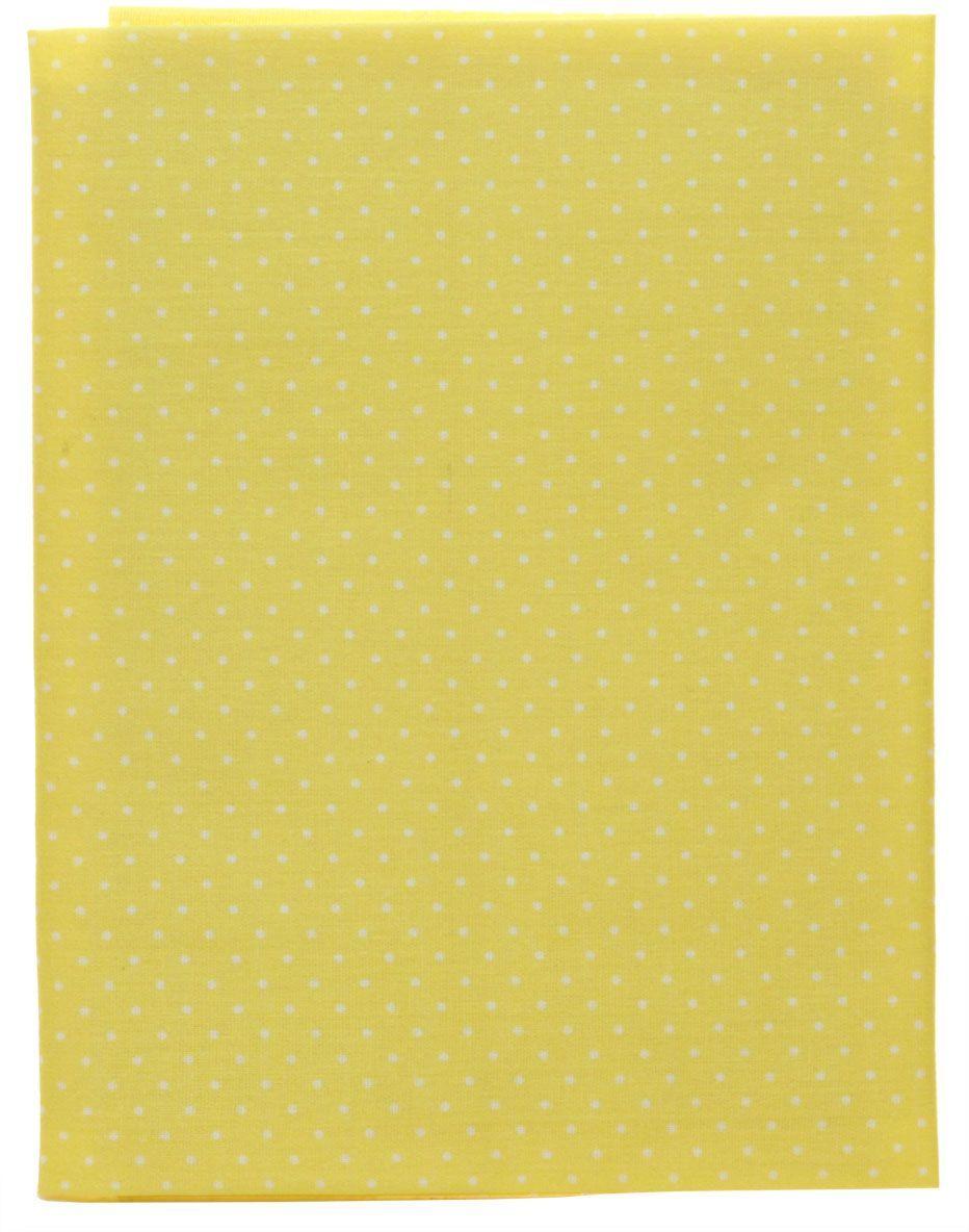 Ткань Кустарь Мелкий горошек, цвет: желтый, 48 х 50 см43513Ткань Кустарь - это высококачественная ткань из 100% хлопка, которая отлично подходит для пошива покрывал, сумок, панно, одежды, кукол. Также подходит для рукоделия в стиле скрапбукинг и пэчворк.Плотность ткани: 120 г/м2. Размер: 48 х 50 см.