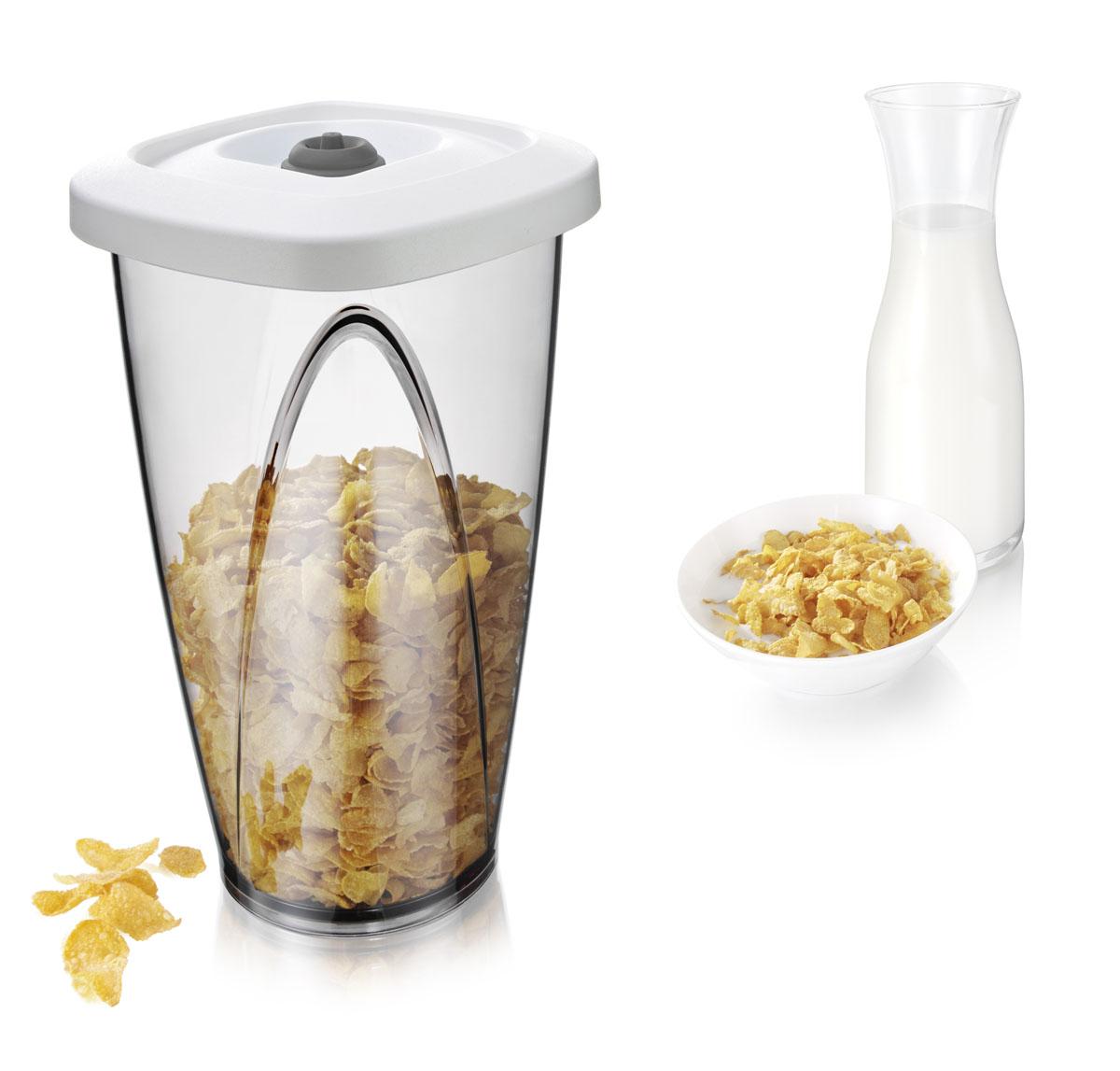 Вакуумный контейнер Tomorrows Kitchen Vacuum Container Large, цвет6 белый, 2,3 лVT-1520(SR)Под воздействием воздуха чай, кофе и другие сухие продукты быстро портятся, отсыревают, утрачивают свой вкус и аромат. Вакуумный насос отсасывает воздух из новой, большей по объему, емкости для хранения продуктов, создавая вакуум для оптимальных условий хранения. •Можно мыть в посудомоечной машине •Используется вместе с вакуумным насосом •Сохраняет вкус, защищает от отсырения •Подходит для сухих продуктов, таких как печенье, чипсы, орехи, кукурузные хлопья, кофе и чай