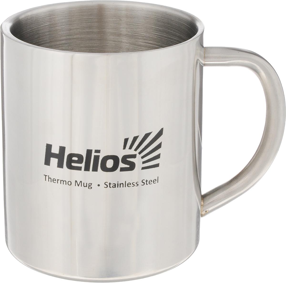 Термокружка HeliosHS TK-009,300 мл128986Термокружка HeliosHS TK-009 предназначена специально для горячих и холодных напитков. Она изготовлена из высококачественной нержавеющей стали. Двойная стенка гарантирует долгое сохранение температуры и убережет от ожогов при заваривании чая или кофе. Такая кружка прекрасно сохраняет свою целостность и первозданный вид даже при многократном использовании.Диаметр кружки (по верхнему краю): 7,5 см. Высота кружки: 9 см.