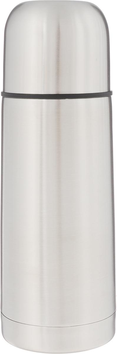 Термос Arctix, 350 мл. 336-0703525880Термос Arctix изготовлен из высококачественной нержавеющей стали. Двухслойный корпус сохраняет температуру на срок до 24 часов. Термос предназначен для горячих и холодных напитков. Герметичная закручивающаяся крышка-пробка предохраняет от проливаний. Крышку можно использовать как чашку. Стильный металлический термос понравится абсолютно всем и впишется в любой интерьер кухни.Диаметр горлышка: 4,5 см.Диаметр основания термоса: 6,5 см.Высота термоса: 19,5 см.