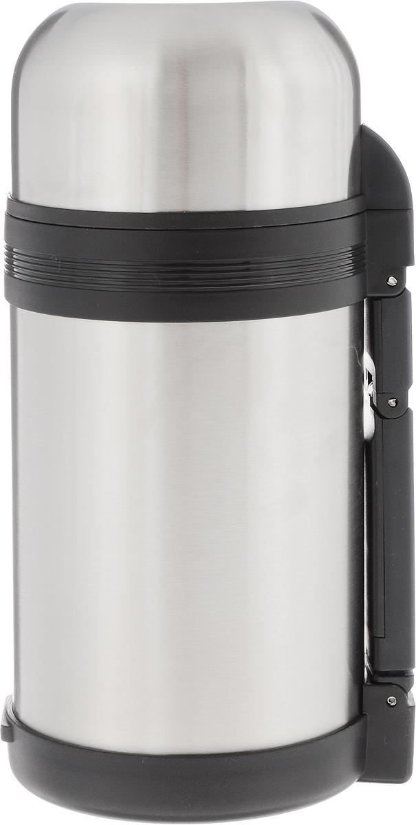 Термос пищевой Arctix, с чашей, 1 л2231Термос Arctix сохранит вашу еду или напитки горячими в течение долгого времени. Изделие выполнено из высококачественной нержавеющей стали с элементами из пластика. Термос оснащен крышкой, которую можно использовать в качестве чаши или миски, также есть дополнительная чаша и ремешок на плечо для удобной переноски.Пробка термоса состоит из двух составных частей: узкая внутренняя пробка пригодится для напитков, а более широкую внешнюю часть можно снять, чтобы удобнее было доставать из термоса еду. Забудьте об этих неудобствах - вместительный и компактный термос Arctix с радостью послужит вам в качестве миниатюрной полевой кухни, поднимет настроение нарядным внешним видом и вкусной домашней едой.Время сохранения температуры (холодной и горячей): 24 часа.Диаметр горлышка (по верхнему краю): 7,5 см.Диаметр клапана: 4 см.Диаметр крышки (по верхнему краю): 10,5 см.Высота крышки: 6 см.Диаметр чаши (по верхнему краю): 9,5 см. Высота чаши: 4 см.Высота термоса (с учетом крышки): 23 см.