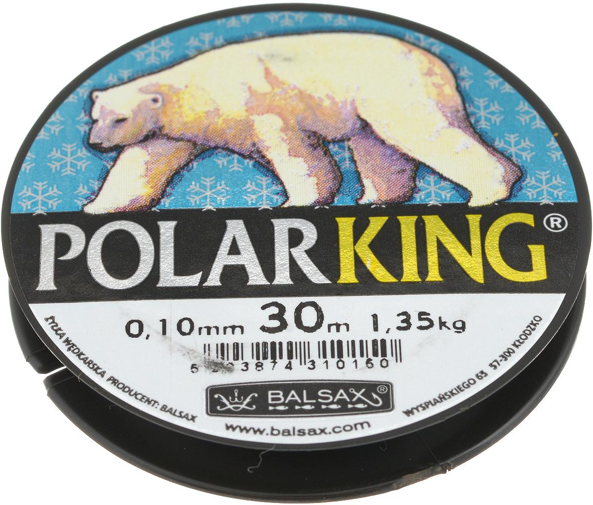 Леска зимняя Balsax Polar King, 30 м, 0,10 мм, 1,35 кг61146Леска Balsax Polar King изготовлена из 100% нейлона и очень хорошо выдерживает низкие температуры. Даже в самом холодном климате, при температуре вплоть до -40°C, она сохраняет свои свойства практически без изменений, в то время как традиционные лески становятся менее эластичными и теряют прочность.Поверхность лески обработана таким образом, что она не обмерзает и отлично подходит для подледного лова. Прочна в местах вязки узлов даже при минимальном диаметре.