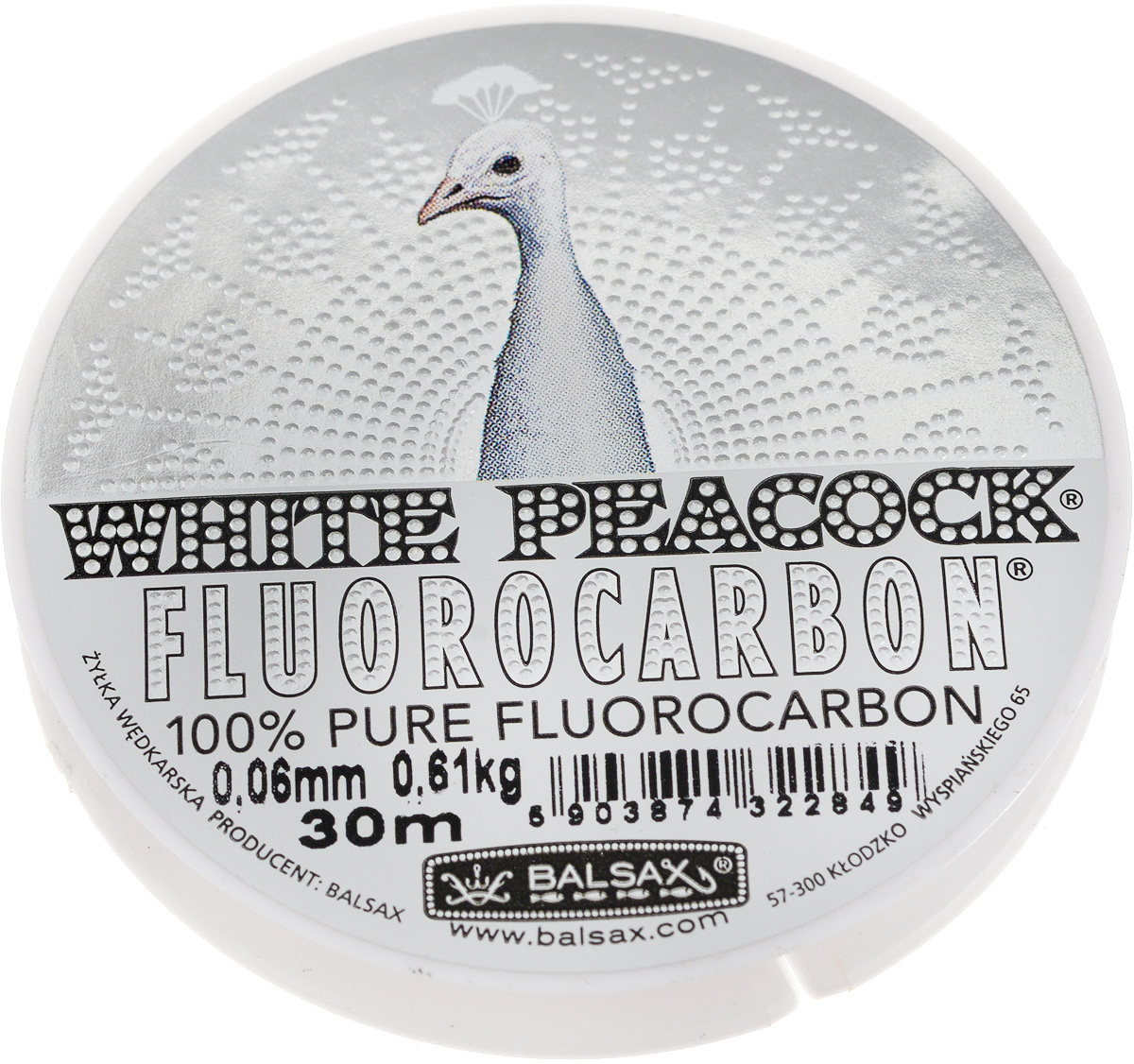 Леска флюорокарбоновая Balsax White Peacock, 30 м, 0,06 мм, 0,61 кг304-09075Флюорокарбоновая леска Balsax White Peacock становится абсолютно невидимой в воде. Обычные лески отражают световые лучи, поэтому рыбы их обнаруживают. Флюорокарбон имеет приближенный к воде коэффициент преломления, поэтому пропускает сквозь себя свет, не давая отражений. Рыбы не видят флюорокарбон. Многие рыболовы во всем мире используют подобные лески в качестве поводковых, благодаря чему получают более лучшие результаты.Флюорокарбон на 50% тяжелее обычных лесок и на 78% тяжелее воды. Понятно, почему этот материал используется для рыболовных лесок, он тонет очень быстро. Флюорокарбон не впитывает воду даже через 100 часов нахождения в ней. Обычные лески впитывают до 10% воды в течение 24 часов, что приводит к потере 5 - 10% прочности. Сопротивляемость флюорокарбона к истиранию значительно больше, чем у обычных лесок. Он выдерживает температуры от -40°C до +160°C.