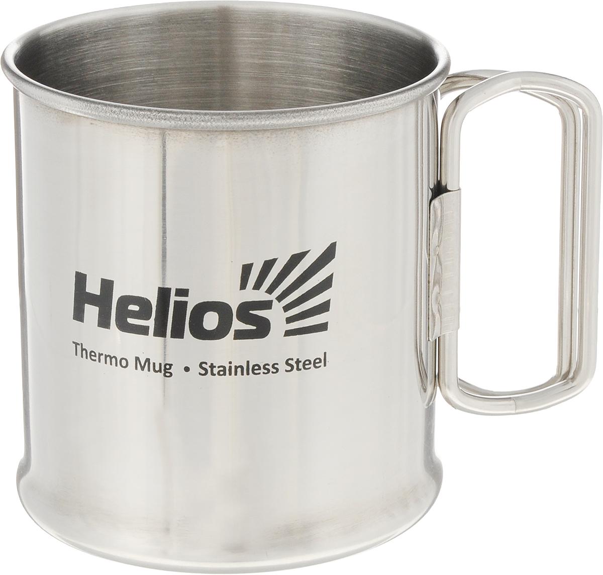 Термокружка HeliosHS TK-014,300 млP737790Термокружка Helios HS TK-014 предназначена специально для горячих и холодных напитков. Она изготовлена из высококачественной нержавеющей стали. Благодаря складным ручкам кружка занимает минимум места в рюкзаке. Такая кружка прекрасно сохраняет свою целостность и первозданный вид даже при многократном использовании. Диаметр кружки (по верхнему краю): 7 см. Высота кружки: 8 см.