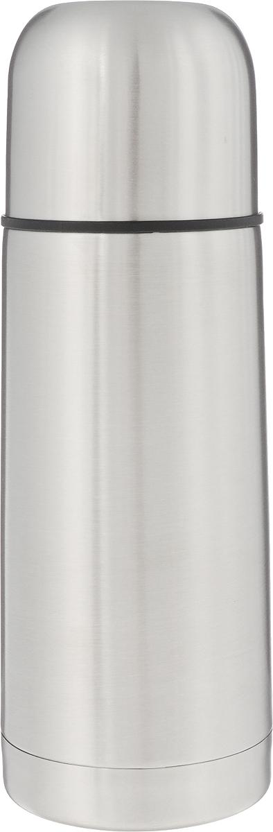 Термос Arctix, 350 млP737853Термос Arctix изготовлен из высококачественной нержавеющей стали. Двухслойный корпус сохраняет температуру на срок до 24 часов. Термос предназначен для горячих и холодных напитков. Вакуумный закручивающийся клапан предохраняет от проливаний, а удобная кнопка-дозатор избавит от необходимости каждый раз откручивать крышку. Крышку можно использовать как чашку. Стильный металлический термос понравится абсолютно всем и впишется в любой интерьер кухни.Диаметр горлышка: 4,5 см.Диаметр основания термоса: 6,5 см.Высота термоса: 19,5 см.
